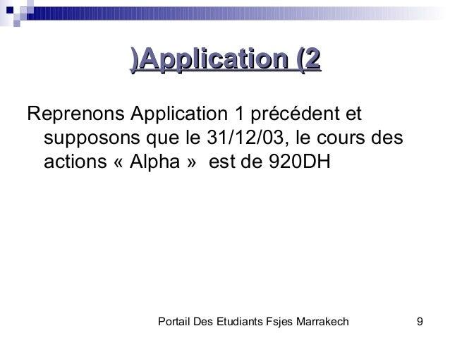 Portail Des Etudiants Fsjes Marrakech 9Application (2Application (2))Reprenons Application 1 précédent etsupposons que le ...