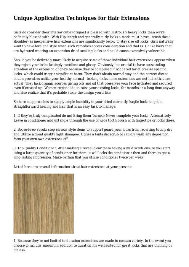 Unique Application Techniques For Hair Extensions