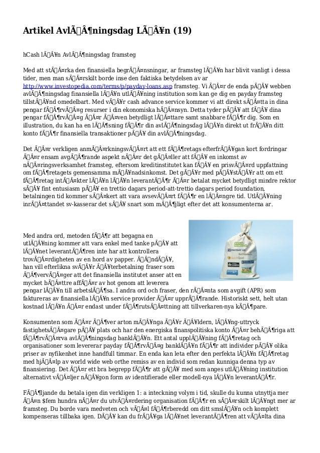 Artikel Avlöningsdag Lån (19)  hCash lån Avlöningsdag framsteg  Med att stärka den finansiella begränsni...