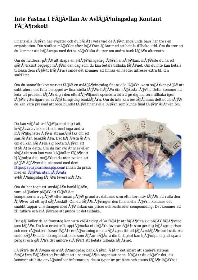 Inte Fastna I Fällan Av Avlöningsdag Kontant  Förskott  Finansiella lån har avgifter och du bör veta vad de...