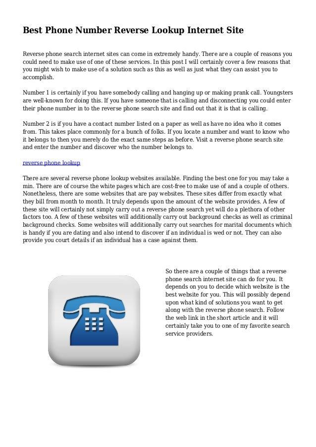 best reverse phone look up site