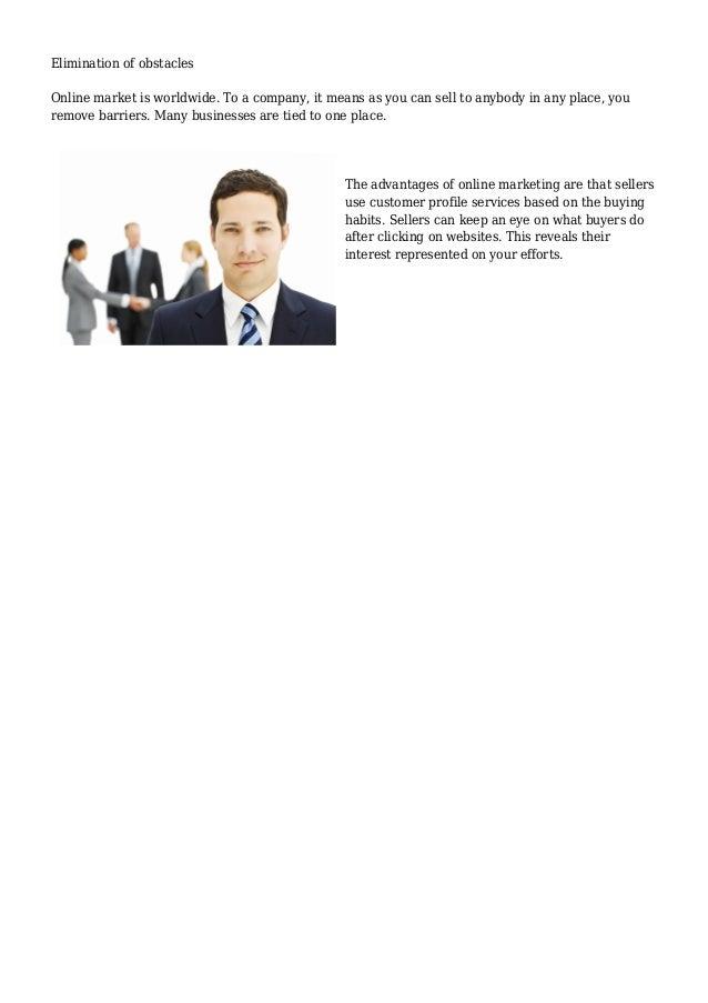 The Top Advantages Of Online Marketing Slide 2