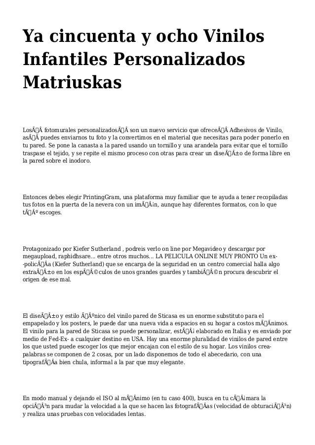 Ya cincuenta y ocho Vinilos  Infantiles Personalizados  Matriuskas  Losfotomurales personalizadosson un nuevo serv...