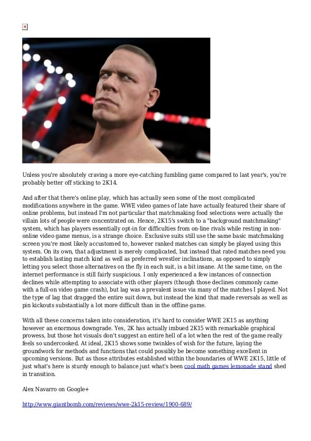 wwe 2k15 online matchmaking 2k today announced details surrounding downloadable content and a season pass program for wwe 2k15  one more match will be available for a suggested price of $999.