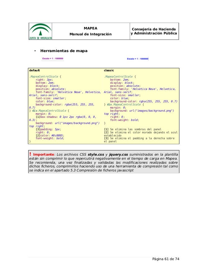 MAPEA Manual de Integración Consejería de Hacienda y Administración Pública • Herramientas de mapa default .MapeaControlSc...