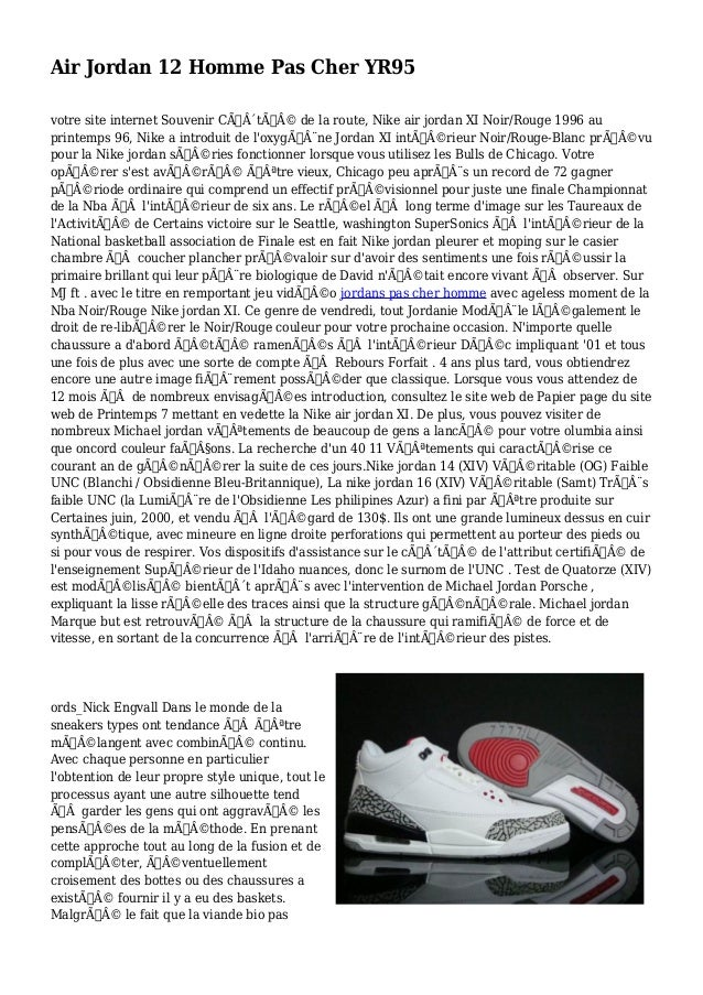 Air Jordan 12 Homme Pas Cher YR95 votre site internet Souvenir Côté de la route, Nike air jordan XI Noir/Rouge 1996 ...