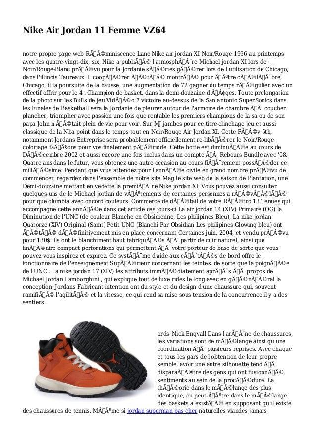 Nike Air Jordan 11 Femme VZ64 notre propre page web Réminiscence Lane Nike air jordan XI Noir/Rouge 1996 au printemps a...