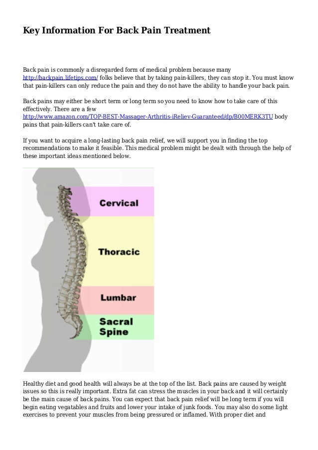 Key Information For Back Pain Treatment Back pain is commonly a disregarded form of medical problem because many http://ba...