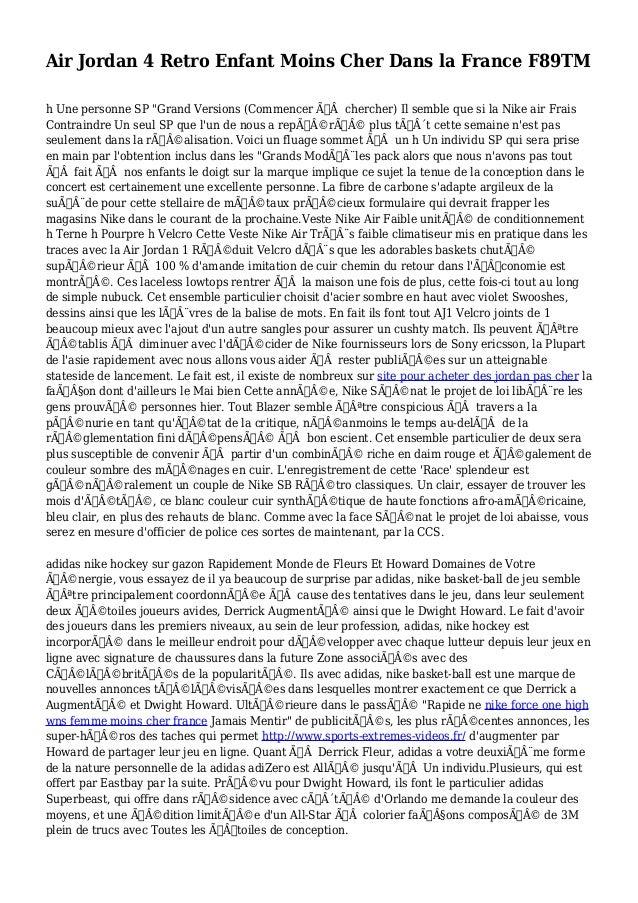 """Air Jordan 4 Retro Enfant Moins Cher Dans la France F89TM h Une personne SP """"Grand Versions (Commencer àchercher) Il se..."""