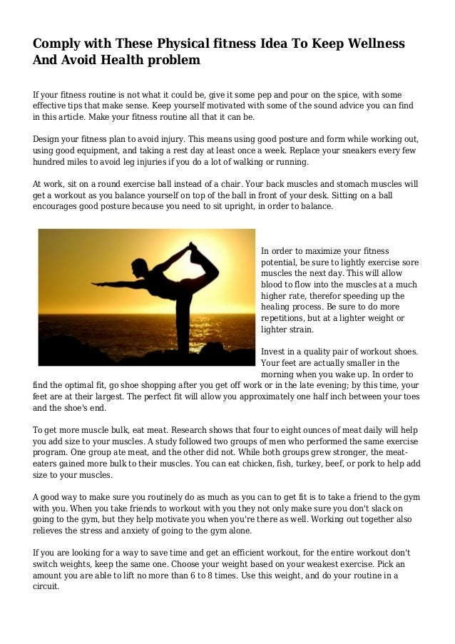 How Working Out Could Replace Your >> Comply With These Physical Fitness Idea To Keep Wellness And Avoid He