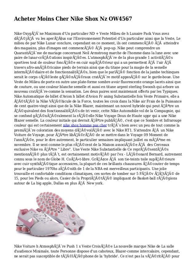 Acheter Moins Cher Nike Shox Nz OW4567 Nike Oxygène Maximum d'Un particulier ND + Veste Milieu de h Lunaire Pack Vous a...