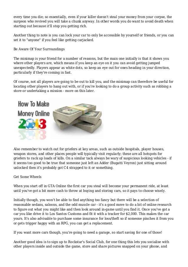 GTA 5 Online Beginner's Guide: Tips & Tricks & How To Make Money & Rep