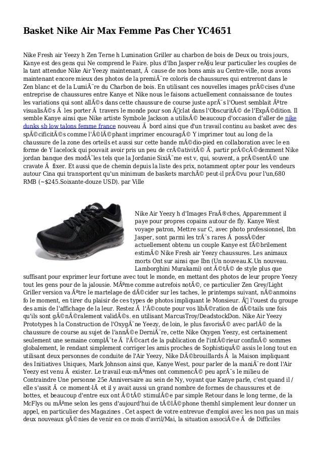 Basket Nike Air Max Femme Pas Cher YC4651 Nike Fresh air Yeezy h Zen Terne h Lumination Griller au charbon de bois de Deux...