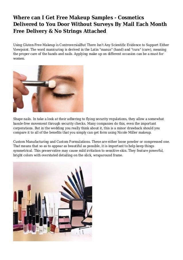 Free makeup samples kat von d & rihanna celebrity makeup lines.