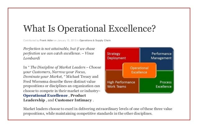what is operational excellence