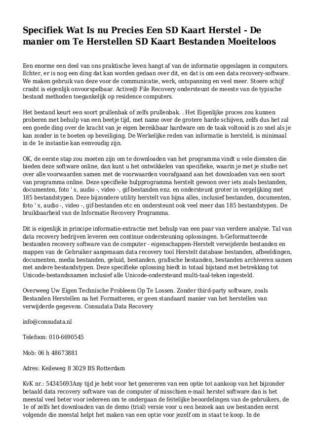 f0adbb3f82ae64 Specifiek Wat Is nu Precies Een SD Kaart Herstel - De manier om Te  Herstellen SD ...