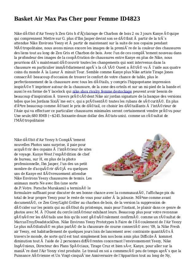 Basket Air Max Pas Cher pour Femme ID4823 Nike débit d'Air Yeezy h Zen Gris h d'Éclairage de Charbon de bois 2 ou 3 jour...