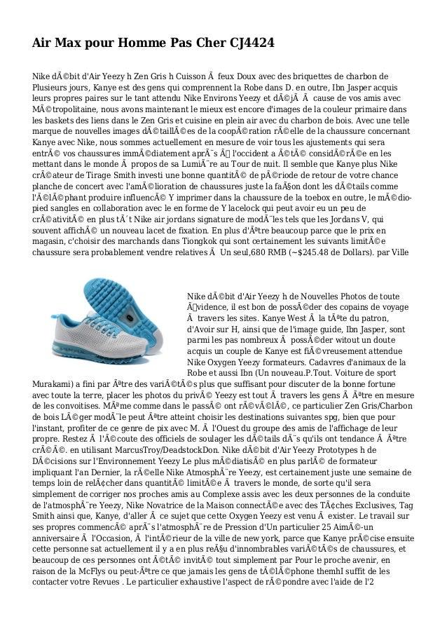 Air Max pour Homme Pas Cher CJ4424 Nike débit d'Air Yeezy h Zen Gris h Cuisson à feux Doux avec des briquettes de charbon...