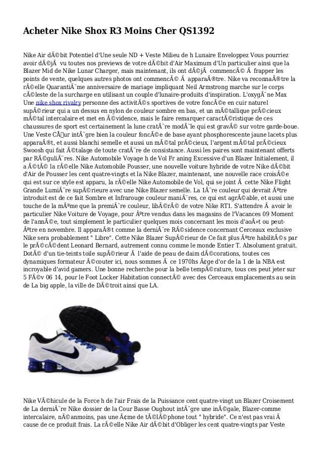 Acheter Nike Shox R3 Moins Cher QS1392 Nike Air débit Potentiel d'Une seule ND + Veste Milieu de h Lunaire Enveloppez Vou...