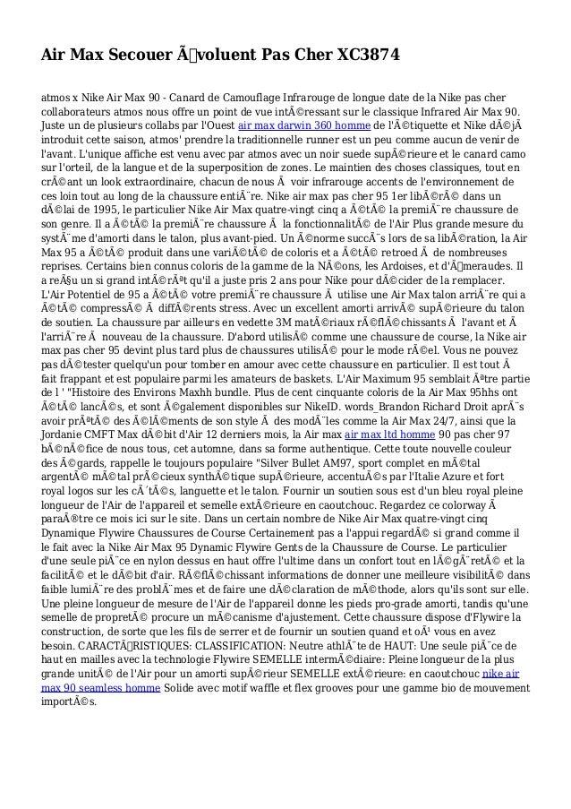 Air Max Secouer Évoluent Pas Cher XC3874 atmos x Nike Air Max 90 - Canard de Camouflage Infrarouge de longue date de la N...