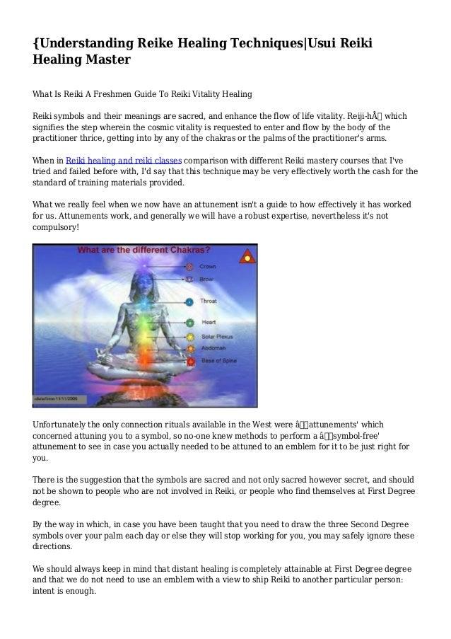 Understanding Reike Healing Techniquesusui Reiki Healing Master