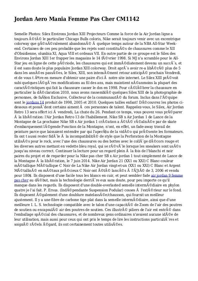 Jordan Aero Mania Femme Pas Cher CM1142 Semelle Photos: Silex Environs Jordan XIII Projecteurs Comme la force de la Air Jo...