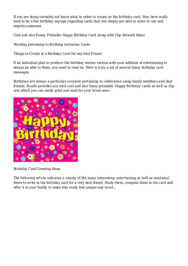 Birthday Card Ideas Buzzle