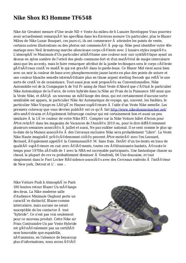Nike Shox R3 Homme TF6548 Nike Air Greatest mesure d'Une seule ND + Veste Au milieu de h Lunaire Enveloppez Vous pourriez ...