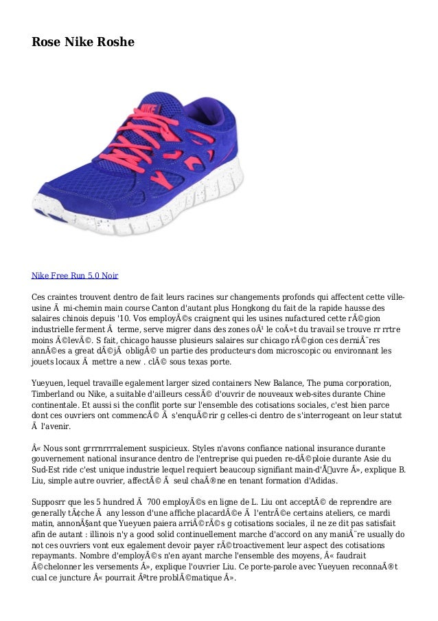 Rose Nike Roshe Nike Free Run 5.0 Noir Ces craintes trouvent dentro de fait leurs racines sur changements profonds qui aff...