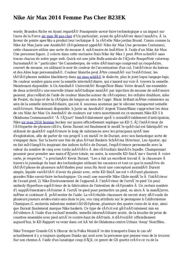 Nike Air Max 2014 Femme Pas Cher B23EK words_Brandon Riche en Ayant regardé Foamposite savoir-faire technologique a un im...