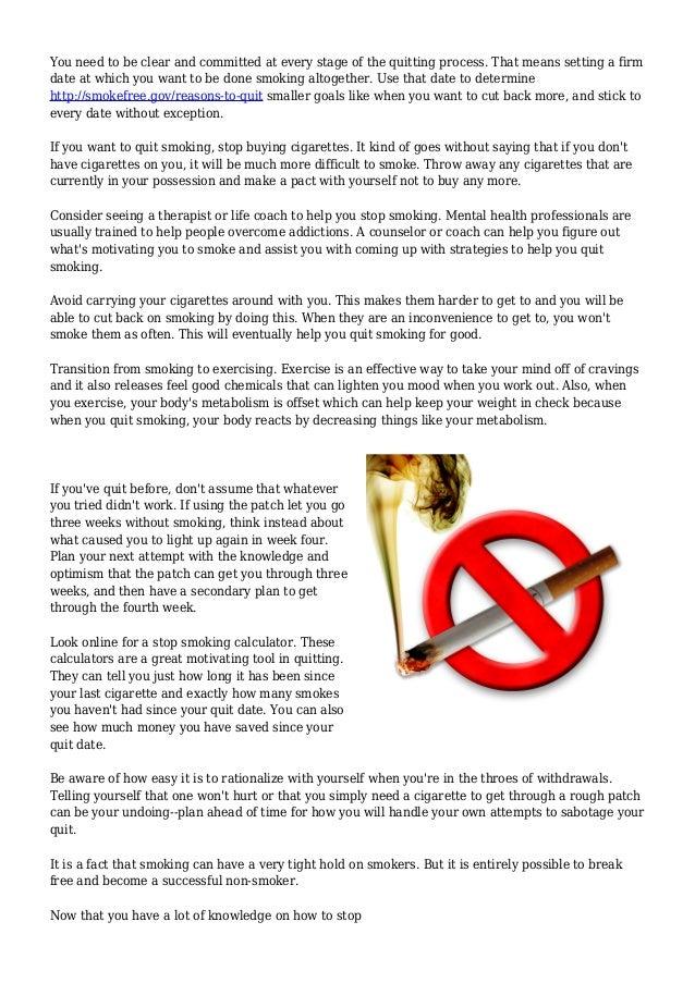 Quit Smoking Calculators