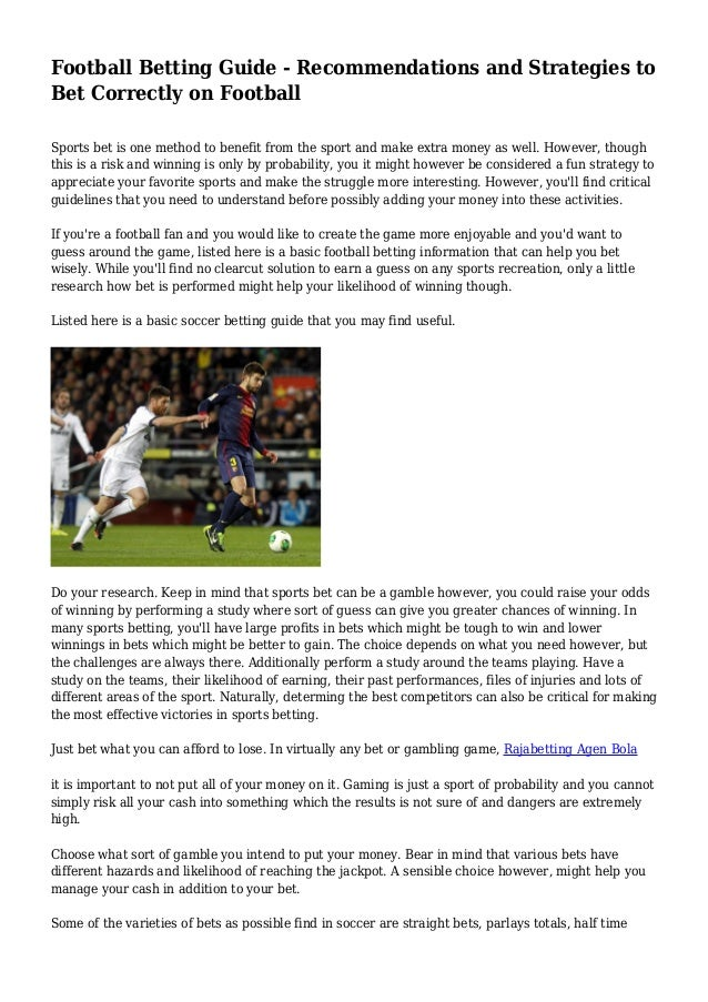football betting guidelines