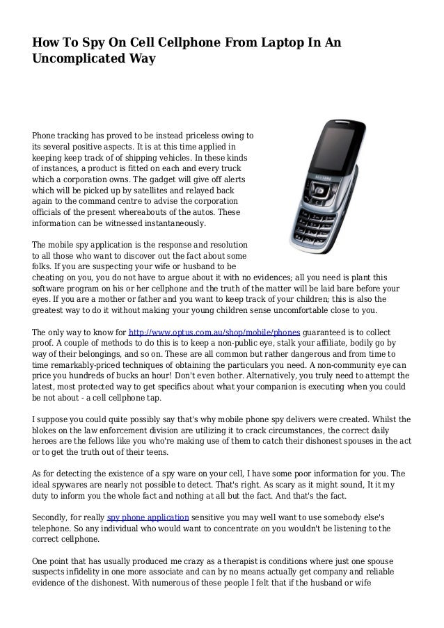 cell phone and laptop spyware