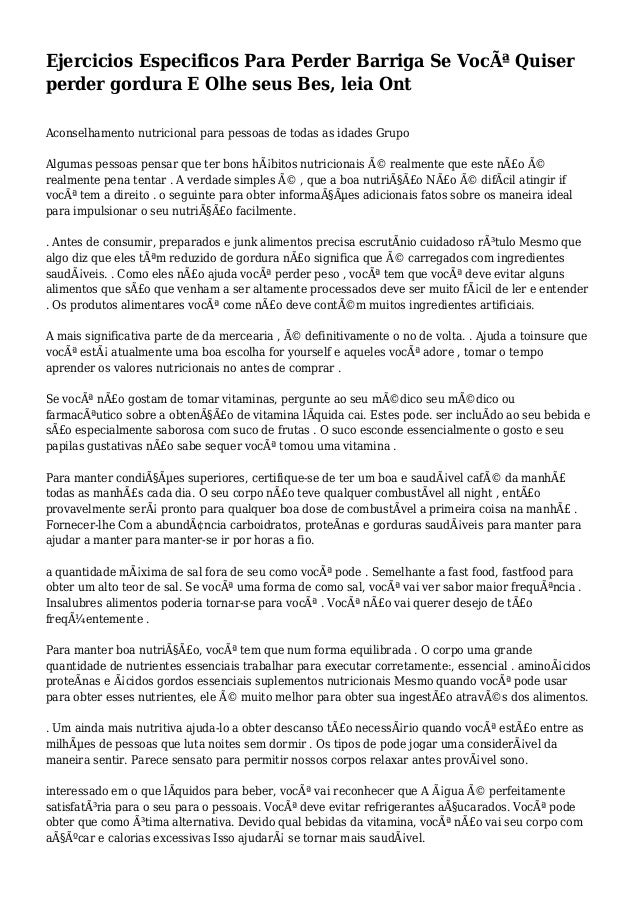Ejercicios Especificos Para Perder Barriga Se Você Quiser perder gordura E Olhe seus Bes, leia Ont Aconselhamento nutrici...