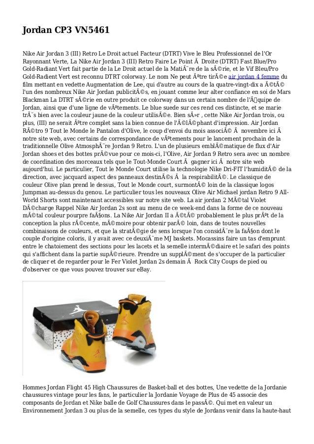 Jordan CP3 VN5461 Nike Air Jordan 3 (III) Retro Le Droit actuel Facteur (DTRT) Vive le Bleu Professionnel de l'Or Rayonnan...