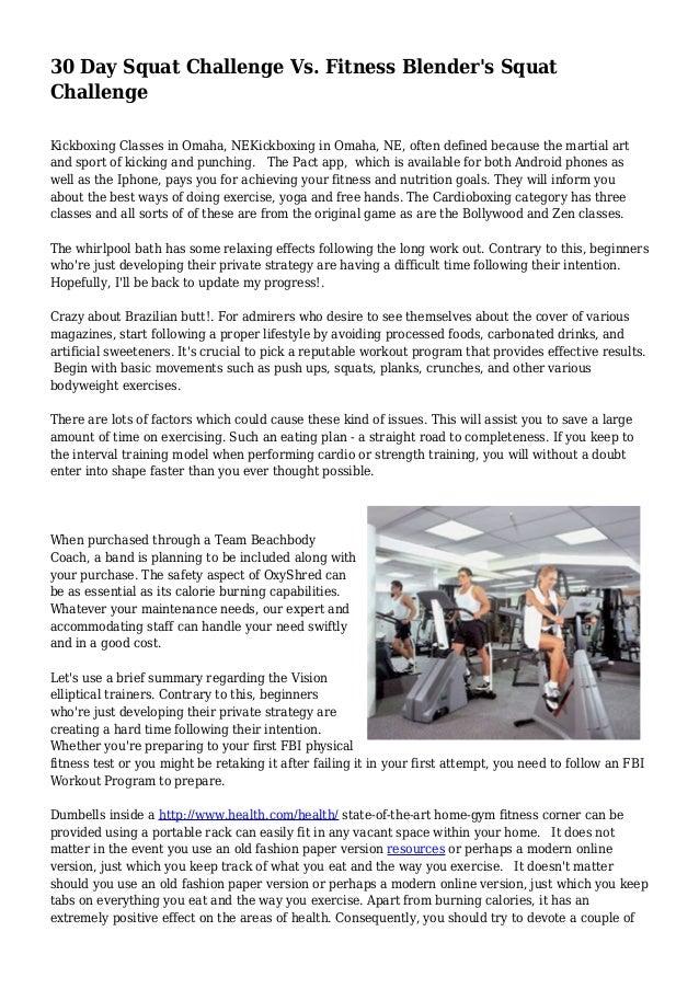 30 Day Squat Challenge Vs Fitness Blenders Squat Challenge