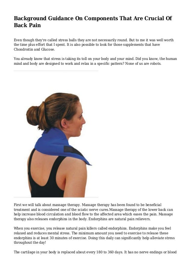 Background Guidance On Components That Are Crucial Of Back Pain Even though they're called stress balls they are not neces...