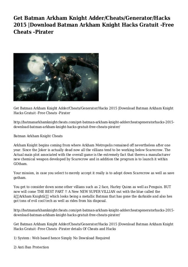 batman arkham city save game download pc