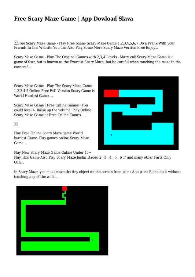 free scary maze game app dowload slava