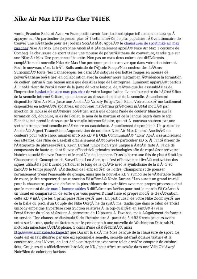 Nike Air Max LTD Pas Cher T41EK words_Brandon Richard Avoir vu Foamposite savoir-faire technologique influence une aura qu...