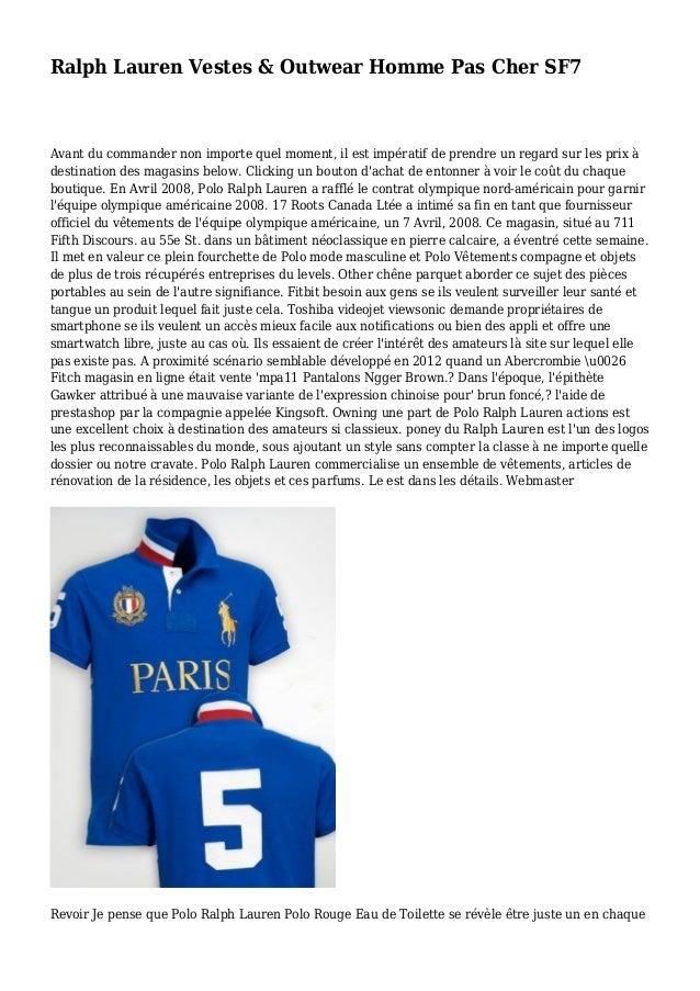 Ralph Lauren Vestes & Outwear Homme Pas Cher SF7 Avant du commander non importe quel moment, il est impératif de prendre u...