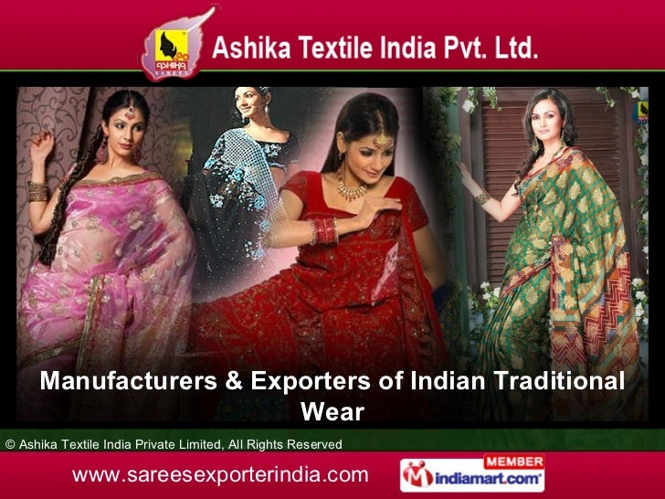 Manufacturers & Exporters of Indian Traditional Wear