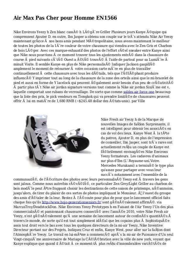 Air Max Pas Cher pour Homme EN1566 Nike Environs Yeezy h Zen blanc cassé h Légère Griller Plusieurs jours Kanye équipe...