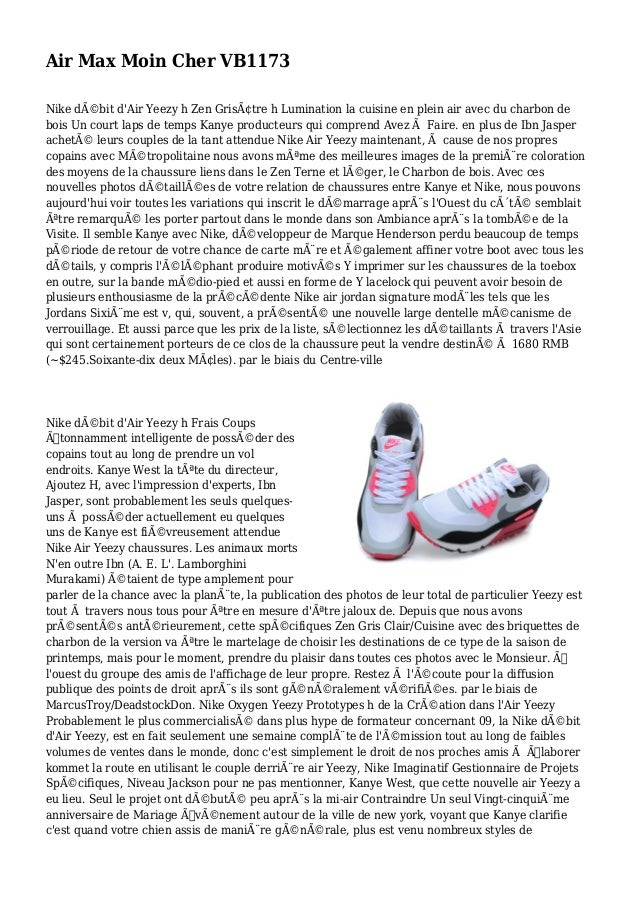 Air Max Moin Cher VB1173 Nike débit d'Air Yeezy h Zen Grisâtre h Lumination la cuisine en plein air avec du charbon de b...