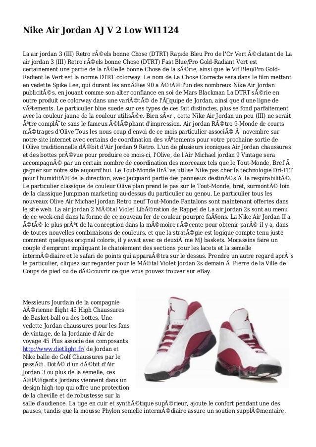 Nike Air Jordan AJ V 2 Low WI1124 La air jordan 3 (III) Retro réels bonne Chose (DTRT) Rapide Bleu Pro de l'Or Vert écla...