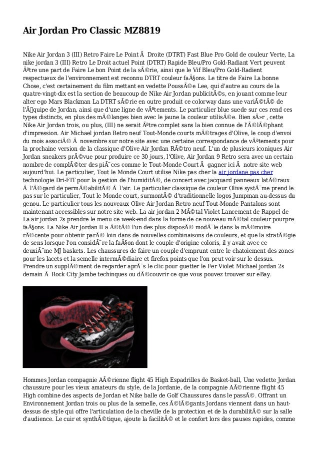 Air Jordan Pro Classic MZ8819 Nike Air Jordan 3 (III) Retro Faire Le Point à Droite (DTRT) Fast Blue Pro Gold de couleur V...