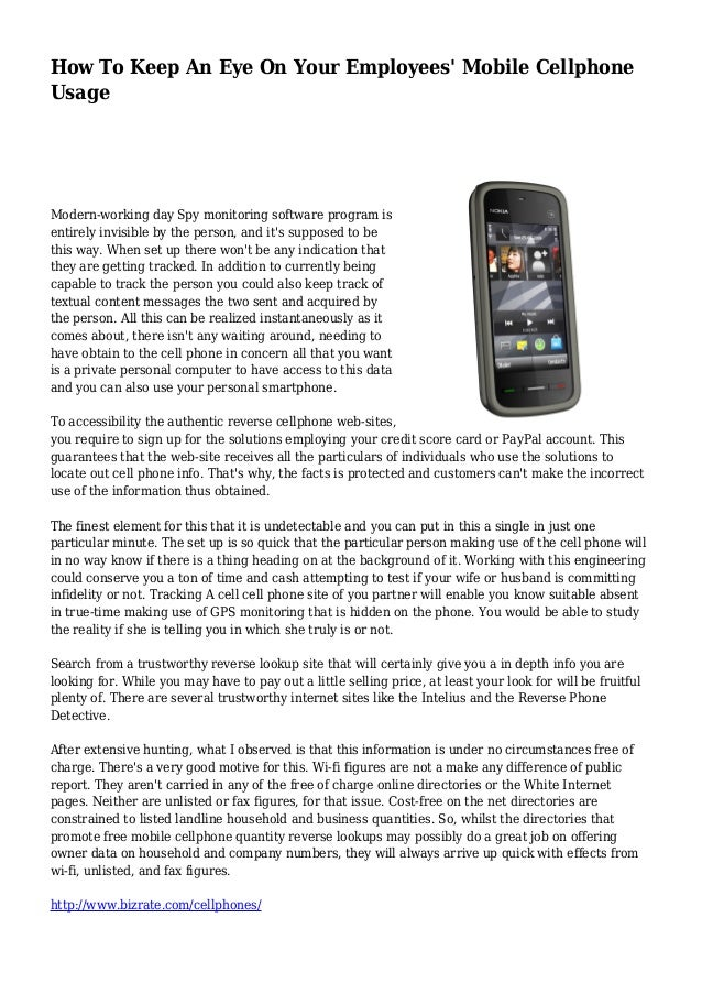monitoring cell phone usage at work