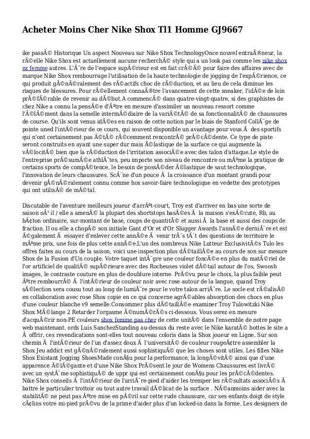 Acheter Moins Cher Nike Shox Tl1 Homme GJ9667 ike passé Historique Un aspect Nouveau sur Nike Shox TechnologyOnce nouvel ...