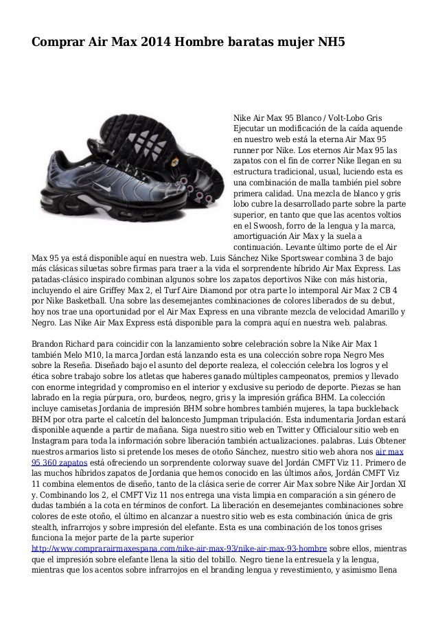 Cerdo molécula Espectador  Comprar Air Max 2014 Hombre baratas mujer NH5