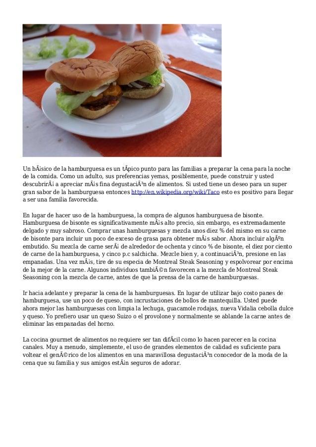 Un básico de la hamburguesa es un tÃpico punto para las familias a preparar la cena para la noche de la comida. Como un a...